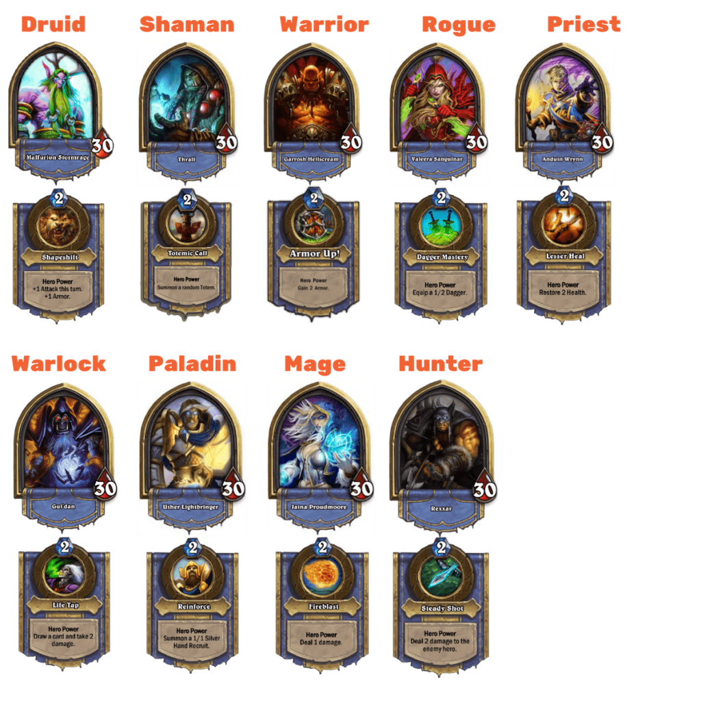 Hearthstone classes